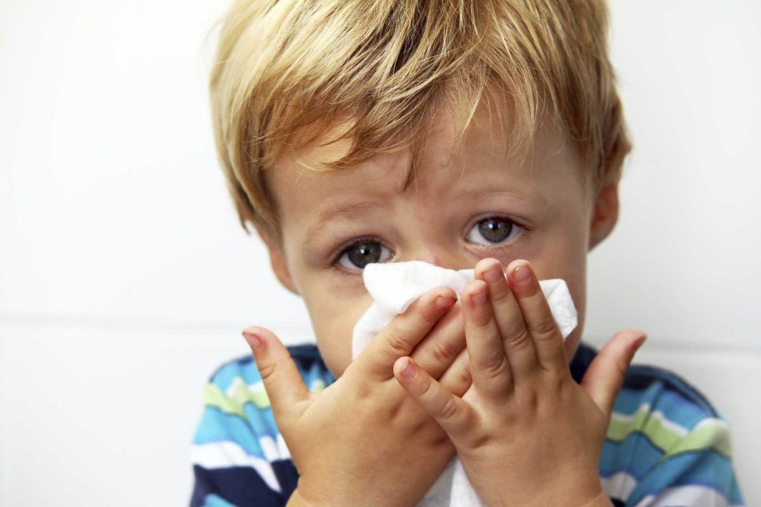 child with runny nose